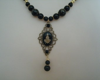 Goddess Quan Yin Necklace, buddhist jewelry buddhism jewelry goddess jewelry bohemian jewelry boho hippie new age zen metaphysical