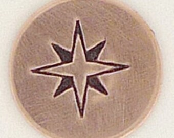 Compass Rose Stamp-Measures approx 6 mm-   Metal Design Stamp-Metal Stamping Supplies for Personalized Jewelry