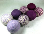 Wool Dryer Balls - Purple People Eater Swirls - Set of 8 - An Eco-Friendly Alternative to the Conventional Dryer Sheet and Fabric Softener!