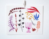 Colorful Botanicals, 8x10 print