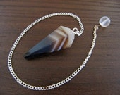 50% SALE! ONYX Faceted Gemstone Pendulum