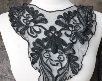 Black color  embroidered   applique    1 piece listing