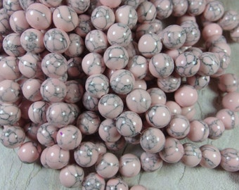 38 pcs 10mm round smooth dyed howlite beads