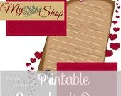Digital Scrapbook Page Valentine Hearts Romance Instant Download, printable Valentine Scrapbook page