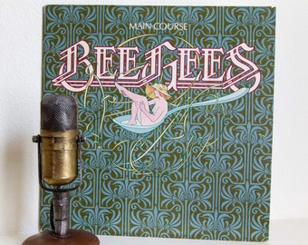 """Bee Gees Vinyl Record Album """"Main Course"""" (1975 RSO Records w/original inner sleeve, """"Jive Talkin"""" and """"Nights on Broadway"""")"""