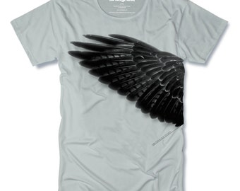 We MAKE Our TRUTH Wing Tshirt Hand Pulled Screen Print on White Mens Tshirt size Small, Medium, Large, XLarge - Free Shipping
