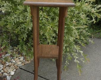 Vintage Walnut Fern Stand