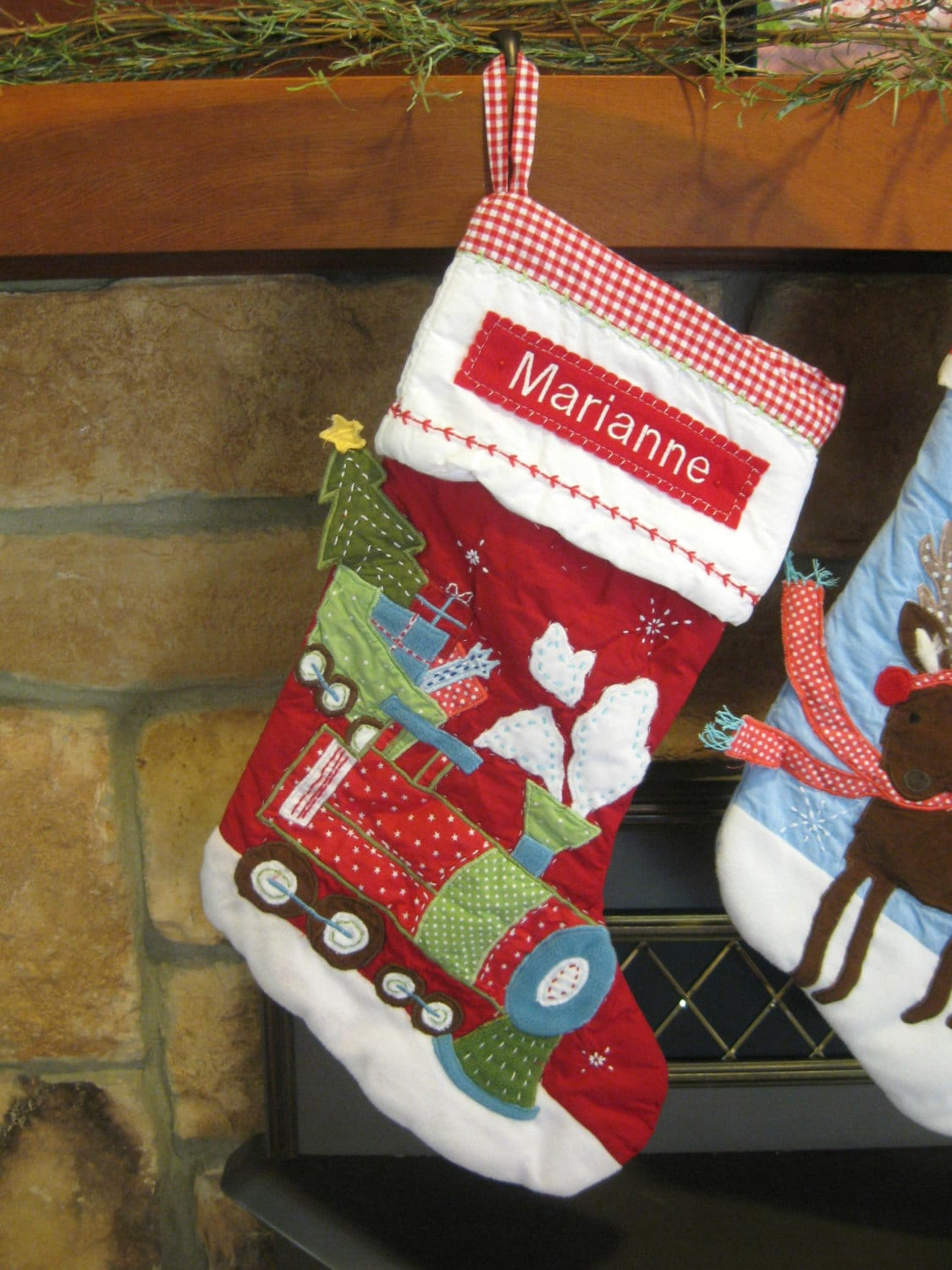 Red Train Stocking Pottery Barn Quilted Stocking RED : pottery barn quilted stocking - Adamdwight.com