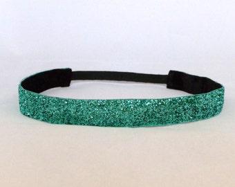 Teal and Black Non-Slip Headbands