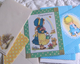 vintage cute cards and envelopes