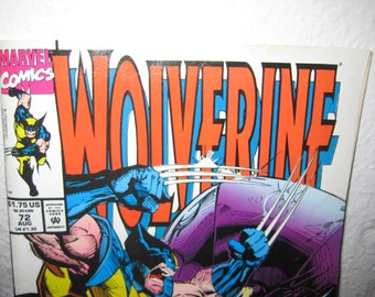 Wolverine Marvel Comic Number 72 August 1993