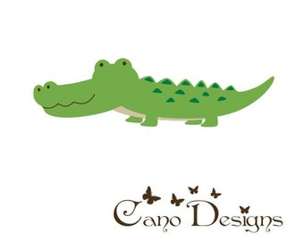 Alligator vinyl decal,  Vinyl wall decals stickers, nursery, kids & teens room, removable decals stickers