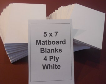 White Matboard Backs (50) 5 x 7 Mat Backs for Frames Photos Art and Crafts