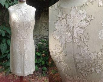1950s cream dress