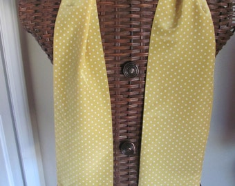 "Beautiful Retro Double Layer Yellow Polka Dot Fringe Scarf Sash - 6 x 76"" Long"