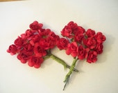 Small Red Paper Flowers