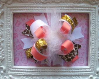 M2M Mud Pie Flamingo Line---Full Size Over the Top Bow---5.5 inches wide