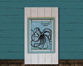 Big Framed 11x14 Octopus Print 17x24