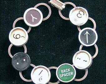 Typewriter Key Bracelet - 8 Random Keys