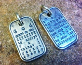 Serenity Prayer Dog Tag, O D A A T - Sterling Silver