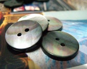 10 Pieces of Rich Luster Thick Shell Buttons, Beautiful Reflective Nature Texture , 0.71 inch