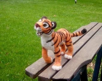 Needle Felt Tiger - Customizable - White, Orange, or Other Color