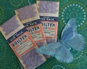 3 Packets of Vintage Lilac Rick Rack, 100% Cotton, Medium Size by Boiltex