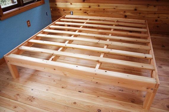 custom queen size solid fir platform bed frame