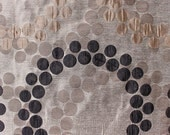 Custom Curtains in Gray with Beige / Black / Antique Gold in Geometric Pattern One Panel with lining Custom sizes available