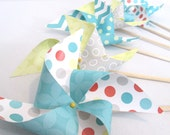 Paper Pinwheel CLEARANCE Mixed 12 Pinwheels at 50% OFF Great for an Birthday Party an Outdoor Party or Event at a Picnic or BBQ