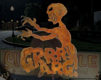 Grrr Arg Metal Steel Garden Yard Sign