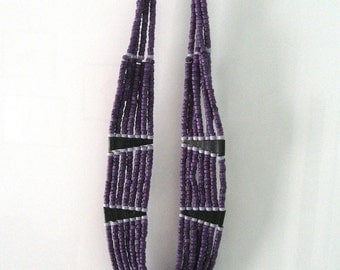 African Beaded Bib Necklace Statement Necklace