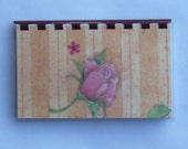 Handmade Rose Petals Blank Recipe Book
