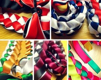 Ribbon Lei - Tri Color 3 Colored - Choose Your Colors