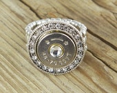 Bullet Ring / Fire & Ice 45-70 Bullet Ring SL-4570-N-FIR / Fire and Ice Ring / Crystal Ring / Bullet Crystal Ring / Fire and Ice Bullet Ring
