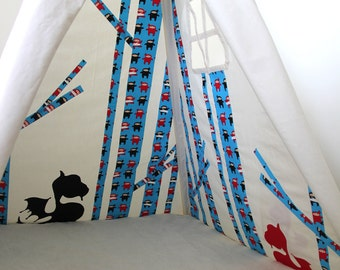 Secret Fairytale Teepee Tent - Little Red in Graphite