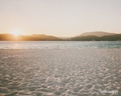 Summer Photograph, Nature Photograph, Landscape Photography, Seaside, Seashore, Sand, Ocean Print, Pastel Shades - Summer Sun