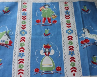 TOWEL - linen tea towel - EUROPEAN - sailor - nautical - dish towel