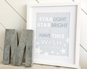 Star Light Star Bright Print // print for nursery // baby print // nursery decor // star decor