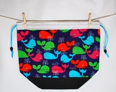 Bright Whales Squoosh Project Bag