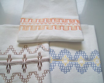Swedish Weaving, Huck Embroidery Pattern Border Set E