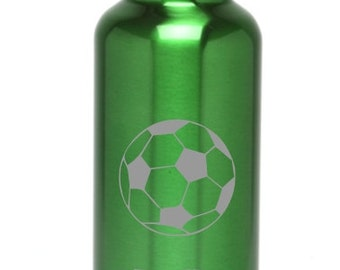 Personalized Water Bottle Stainless Steel Water Bottles Custom Engraved Water Bottle BPA Free Soccerball-Eco-friendly Wedding Gift