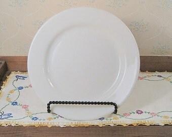 White Corning Restaurant Ware Dinner Plate