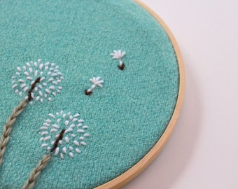 Dandelion Embroidery Tutorial - PDF