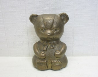 Vintage Brass Teddy Bear Figurine