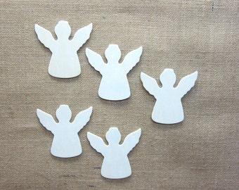 Angel Cut Outs Made From Wood - Lot Of 5