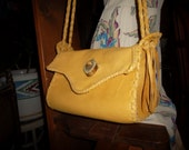 Hand Laced Deerskin SET fully lined in off white/ivory Leather Rockin' Bag with matching Zadie coin purse
