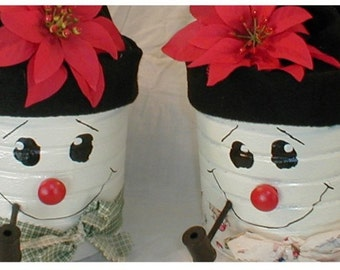 coffee can snowman