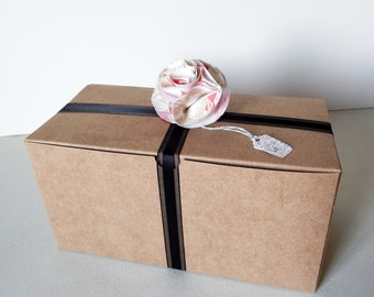 24 - 9 x 4.5 x 4.5 Kraft Gift Boxes