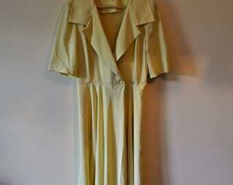Primrose Yellow 80s Wrap Dress